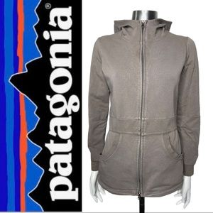 Patagonia Women's Full Zip Hoodie Flared Hem Small